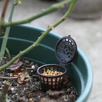 20 sztuk ogrodnik narzędzia rośliny rosną organiczne kosze nawozów Bonsai nawóz pojemnik zestaw rozmiar S i L tanie i dobre opinie Z tworzywa sztucznego