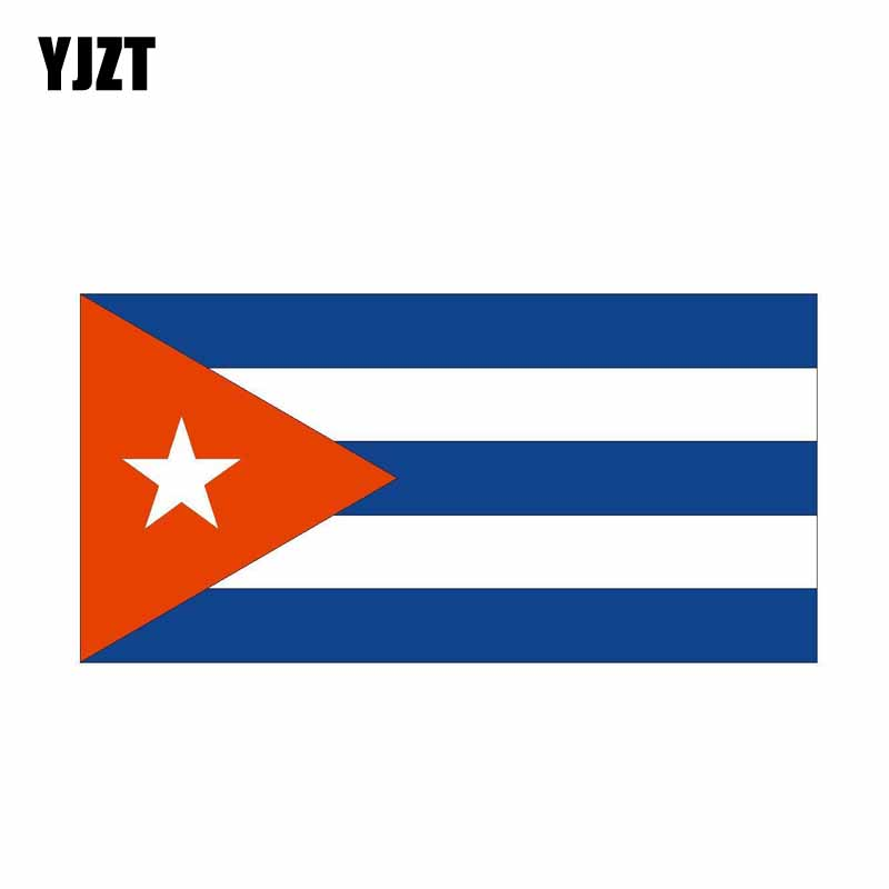YJZT 16.5CM*8.2CM Car Accessories CUBA Flag Car Sticker Styling Decal 6-0545