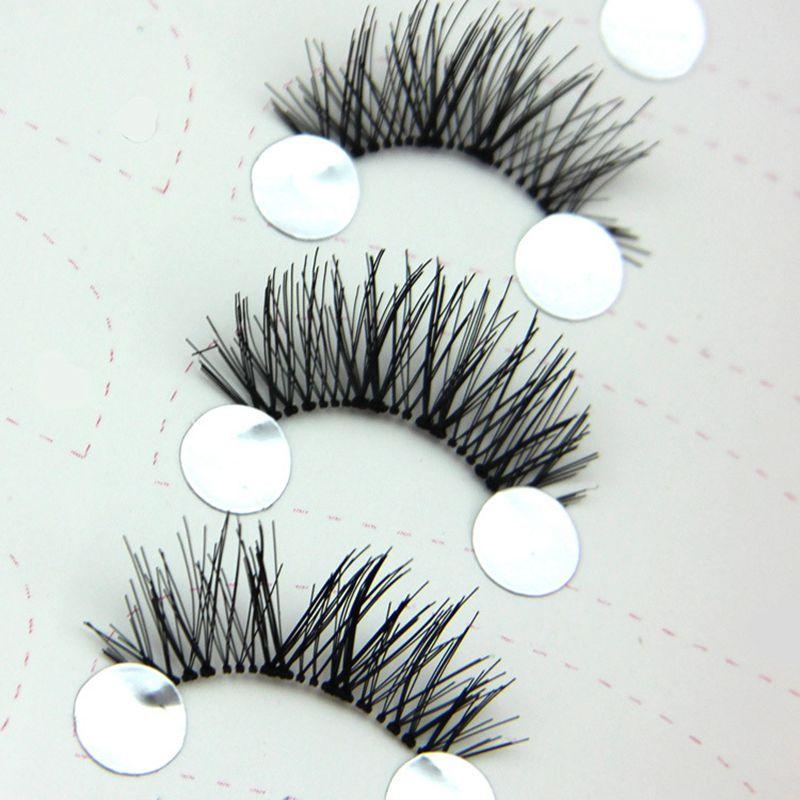 5 Pairs Handmade False Eyelashes Transparent Stems Hot Criss Cross Messy Fake Eyelashes Stage Bare Makeup Lashes Tool