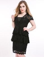 Black Lace Dress Plus Size Hollow Out Dress Bodycon 2016 Summer 5xl 6xl Backless Elegant