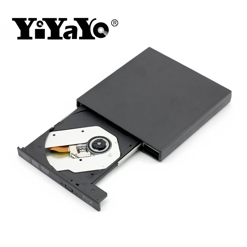 YiYaYo Bluray Player External DVD Drive combo USB 2.0 BD/DVD/CD-ROM Player CD/DVD-RW Burner Recorder Portatil for Windows10 PC bluray player external usb 3 0 dvd drive blu ray 3d 25g 50g bd rom cd dvd rw burner writer recorder for windows 10 mac os linux