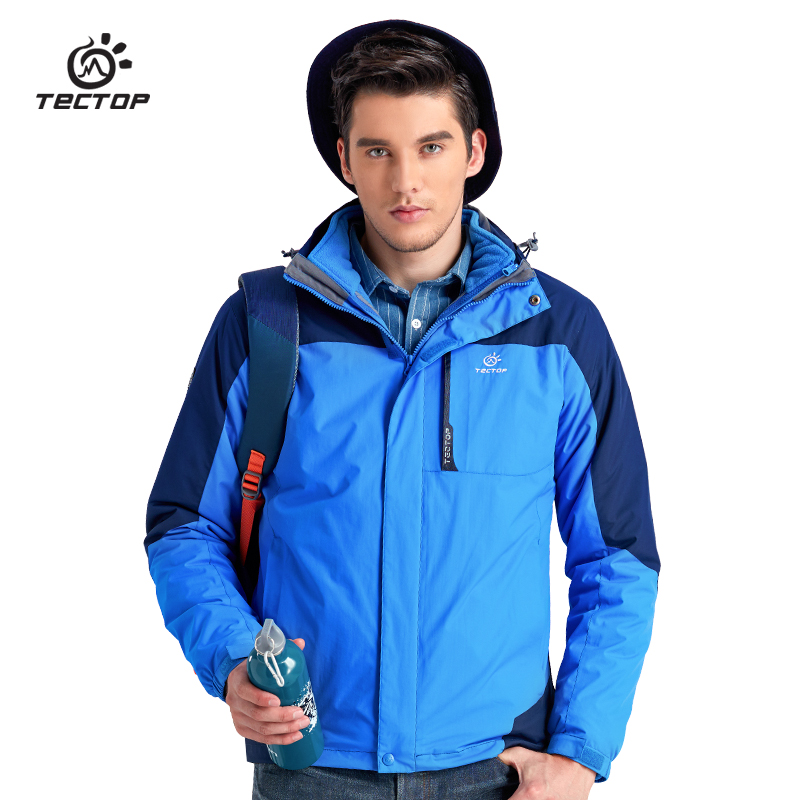 ФОТО Quality Wolf Tec Top 3 In 1 Professional North Waterproof Rain Ski-Wear Mountain Hiking Jackets Men Power Sport Clothing Men