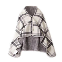 Double Plaid Blanket Multifunction Wrap Shawl Moisture-absorbing Warm Warm Blanket Lazy Shawl Blanket Apr 11(China)