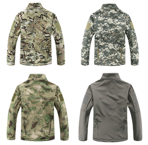 Image 3 - Мужская камуфляжная куртка, ветрозащитная тактическая куртка в стиле милитари, с воротником стойкой, флисовая верхняя одежда