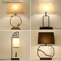 Chinese Retro Metal E27 Led Table Lamp Lustre Brass Bird Bedroom Led Table Light Desk Lights Simple Led Table Lighting Fixtures