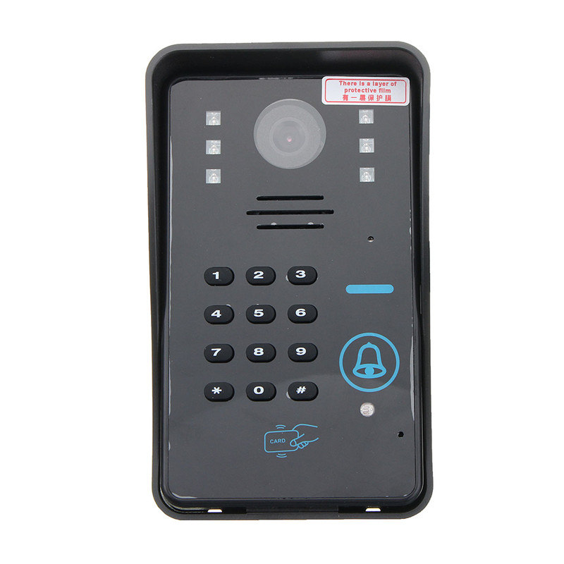 NEW 7 LCD RFID Video Door Bell Phone Doorbell Intercom System Touch Key IR Camera Home Security Building Automation jeatone 7 lcd monitor wired video intercom doorbell 1 camera 2 monitors video door phone bell kit for home security system