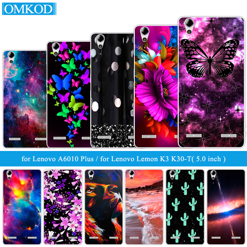 Soft TPU Butterfly Phone Cases for Lenovo A6010 Plus & A6000 DIY for Lenovo Lemon K3 K30-T K30-W Skin 5