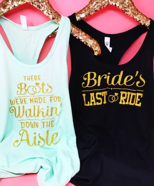 ba52948ea67dd US $15.17 15% OFF|Aliexpress.com : Buy personalize glitter Bride's Last  Ride Bachelorette Shirt, These Boots Were Made For Walking Down Aisle t  Shirts ...
