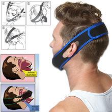 New stop snoring chin strap snore belt anti apnea jaw solution sleep for men