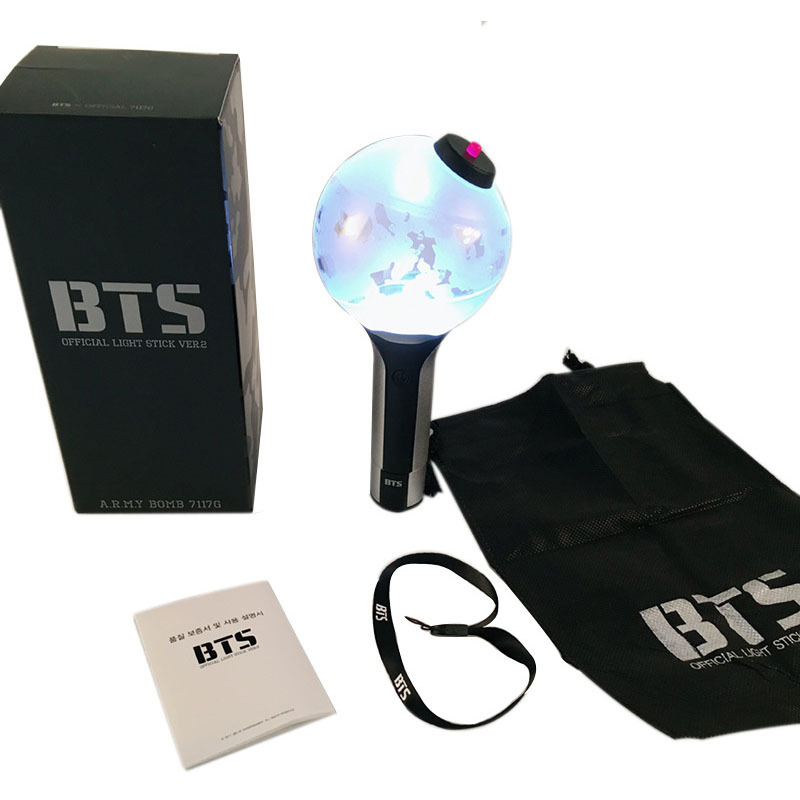 Kpop Bangtan Boys BT21 BTS Light Sticks Jimin Jung Kook Suga V Concert VER.2 Army Bomb Glow Stick Lamp Fans Gifts [tool] 2017 new kpop group exo light stick ver 3 0 sehun chanyeol do glow light stick lamp black white color page 1