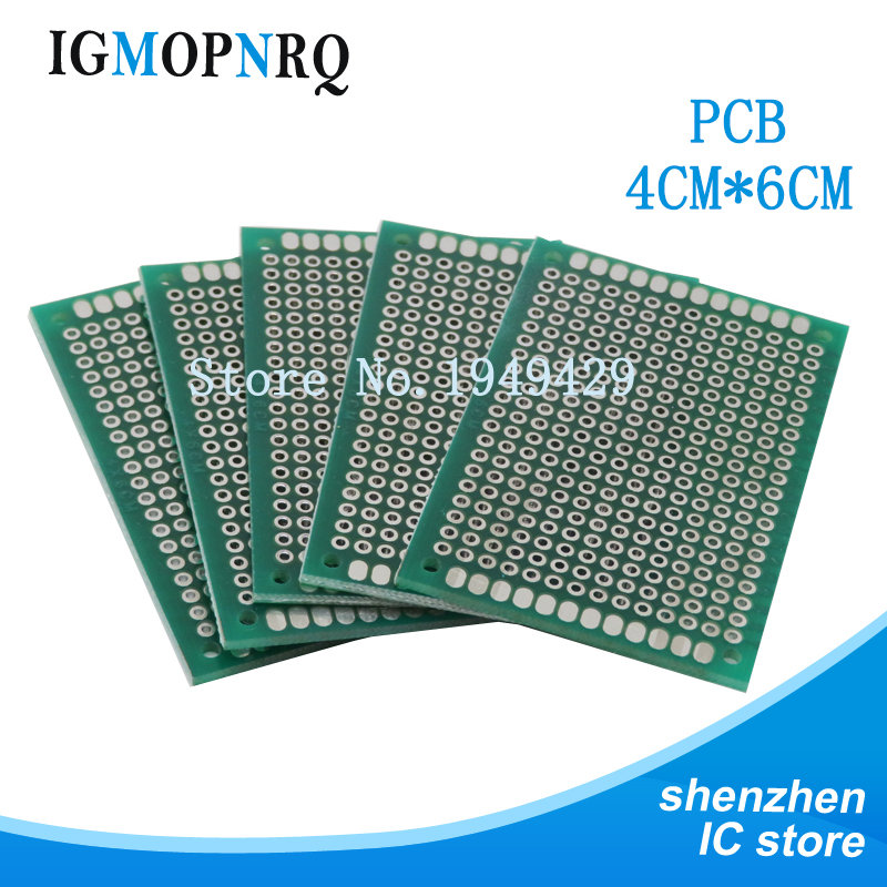 10pcs Pcb High-quality!! Double Side Prototype PCB Diy Universal Printed Circuit Board 4x6cm Hot Sale