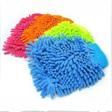 Рукавицей митт очистка стиральная мыть микрофибры кисть розовый ткань синий перчатки