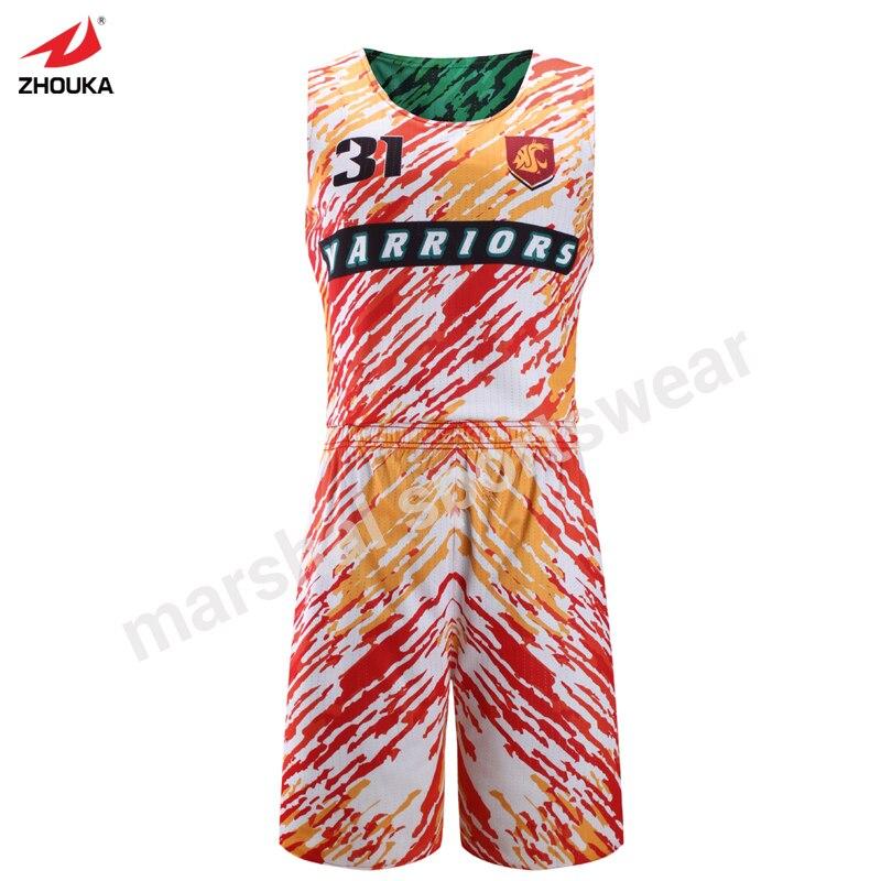team baketball custom jersey full sublimation reversible basketball vest mesh polyester top quality