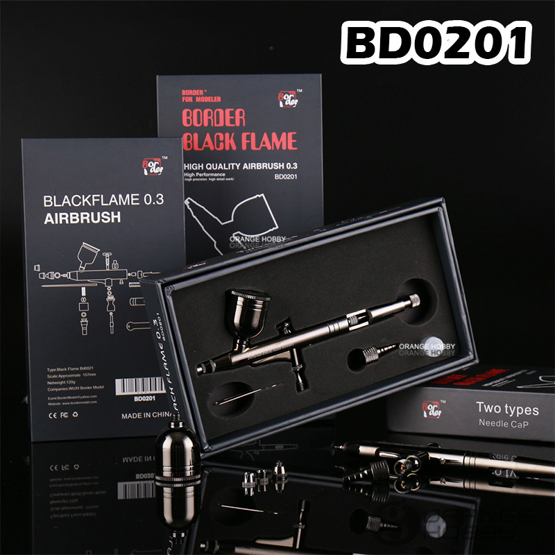 OHS Border BD0201 BlackFlame Model Spray Work Modeling Art Airbrush 0 3mm Hobby Painting Tools Accessory