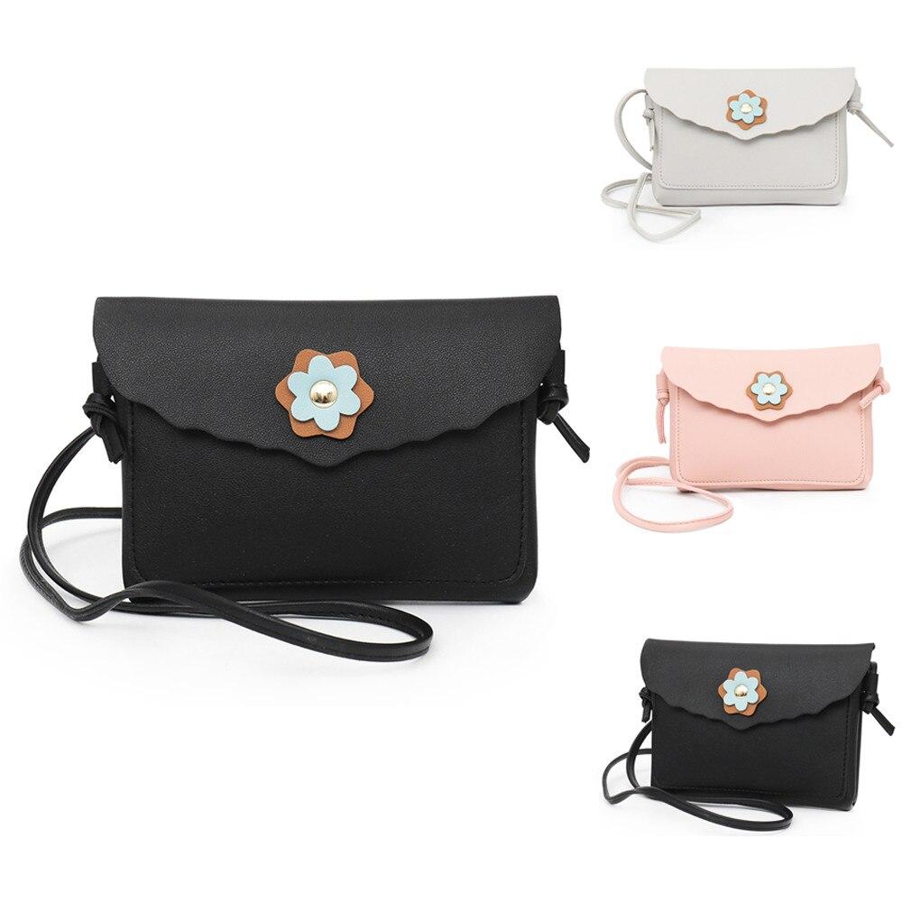 Женская сумка 2018 мода новый кожаный цветок украшения сумка мобильного телефона сумка сплошной цвет сумки