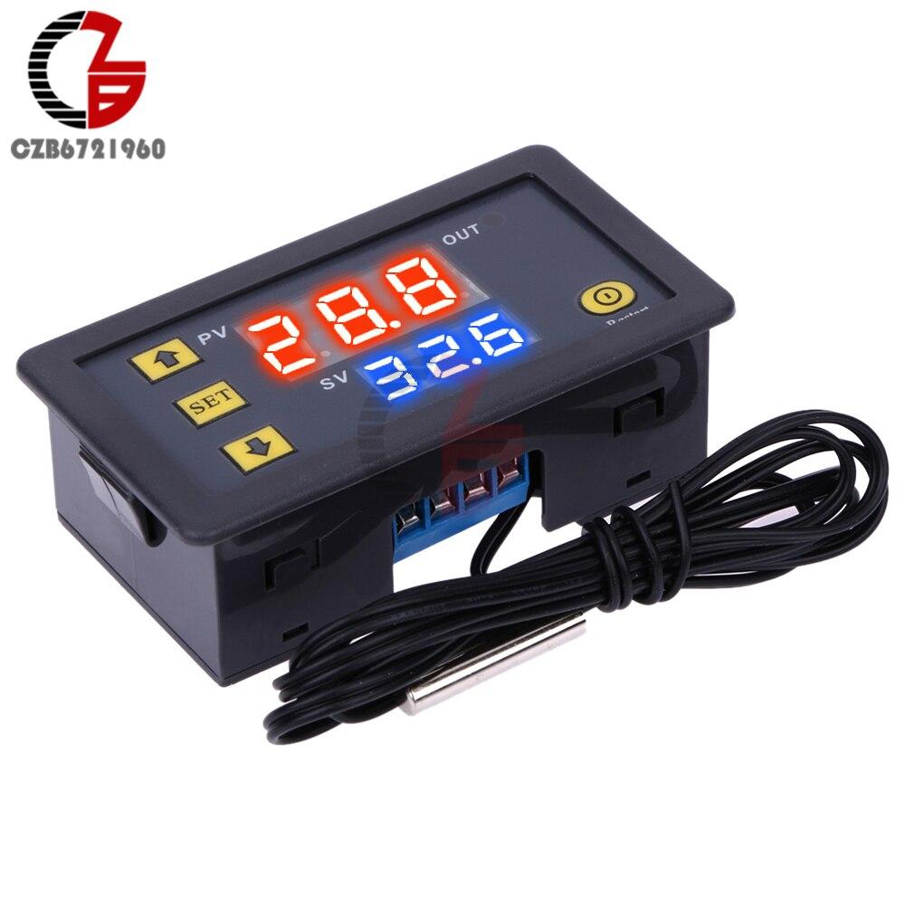 LED Digital Thermostat 110V 220V 12V 24V Temperature Controller Regulator Incubator Boiler Indoor Outdoor Pyrometer Thermometer