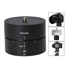 카메라, DSLR, GoPro 및 스마트 폰용 파노라마 360 °/60 분 시간 경과 삼각대 헤드 (최대 4.4 LBS 지원)