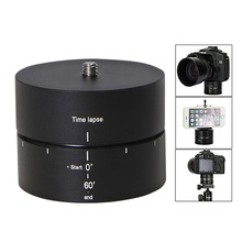 Panoramic 360°/ 60 Minute Time Lapse Tripod Head for Cameras, DSLR, GoPro and Smartphones (Supports up to 4.4 LBS)