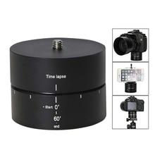 Panoramik 360 °/60 dakika zaman atlamalı Tripod başkanı kameralar, DSLR, goPro ve akıllı telefonlar (kadar destekler 4.4 LBS)