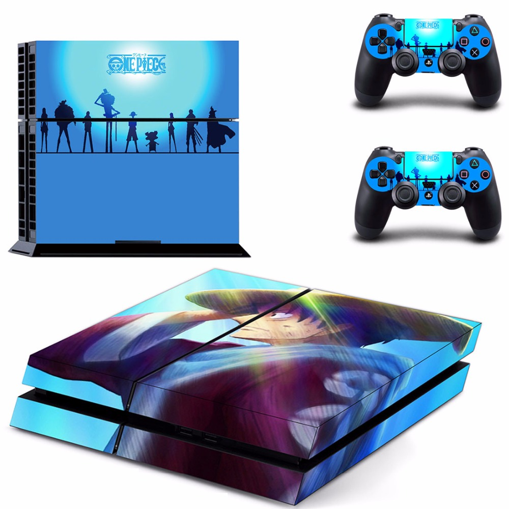 Anime One Piece Luffy PS4 Skin Sticker Decal for Sony PlayStation 4 Console and 2 controller skins PS4 Stickers Vinyl Accessory