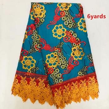 BEAUTIFUL wax mix lace fabrics african wax fabrics with guipure lace 2019 high quality fabric dress       JFJUN239