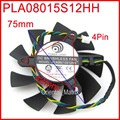 Free Shipping POWER LOGIC PLA08015S12HH 12V 0.35A 75mm 42x42x42mm For MSI R4770 R6850 Graphics Card Cooling Fan 4Pin 4Wire