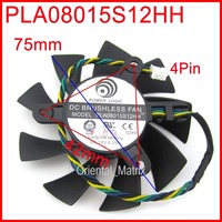 Free Shipping POWER LOGIC PLA08015S12HH 12V 0 35A 75mm 42x42x42mm For MSI R4770 R6850 Graphics Card