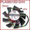 Frete Grátis POWER LOGIC PLA08015S12HH 12 V 0.35A 75mm 42x42x42mm Para MSI R6850 R4770 Ventilador de Refrigeração da placa Gráfica 4Pin 4 Fios