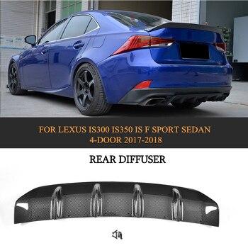 Carbon Fiber Car Racing Rear Diffuser Bumper Lip For LEXUS IS300 IS350 IS F Sport Sedan 4 Door 17-18 front lip for lexus gs350