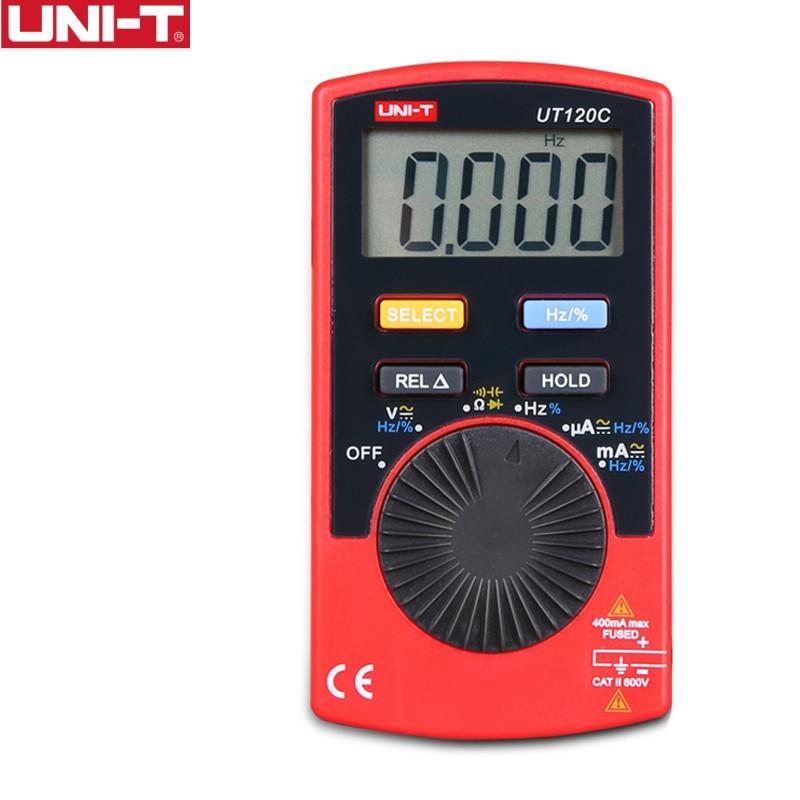 UNI-T UT120C Pocket Size Stype Digital Multimeter Auto Range Tester DC AC Voltage Diode Mini Electrical Meters LCD Display