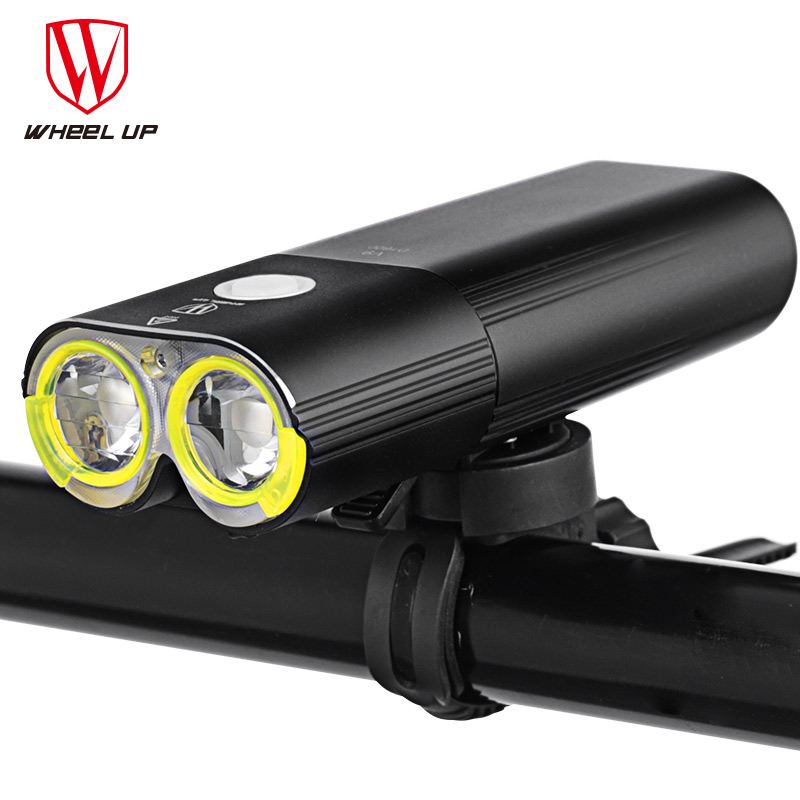 WHEELUP Bike Light USB Rechargeable Flashlight For Bicycle Bicycle Headlight Front Light Cycling Headlight 1600 Lumens MTB Lamp nitenumen 1800lumens bike front light cycling headlight bicycle rechargeable flashlight waterproof 6400mah led head lamp for mtb
