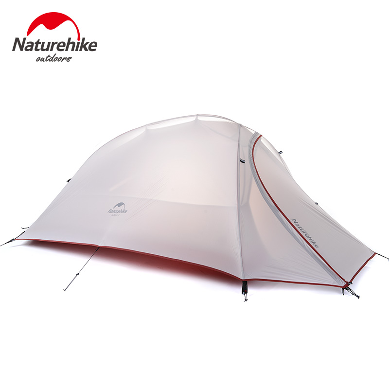 Naturehike Lightweight Waterproof Tent Outdoor 1 Person Double Layer 20D Silicone Ultralight Winter Camping Hiking Tents 1.1kg yingtouman outdoor 2 person waterproof double layer tent fiberglass rod portable ultralight camping hikingtents