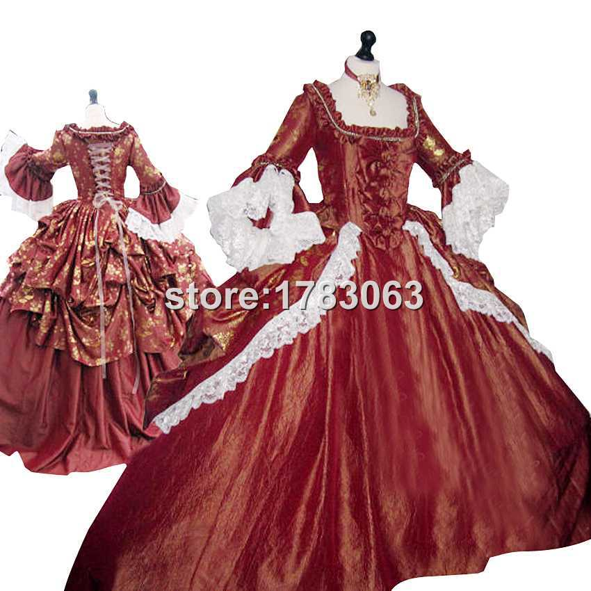 Rococo Marie Antoinette Dress Colonial Georgian 18th century Fully boned for authentic Dress