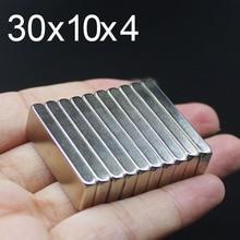 цена на 1/5/10/20/50Pcs 30x10x4 Neodymium Magnet 30mm x 10mm x 4mm N35 NdFeB Round Super Powerful Strong Permanent Magnetic imanes