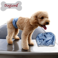 10pcs/lot mixed sizes Protective Fashion Cotton Demin Male Wrap Pet Dog Pants Male Dog Cover ups