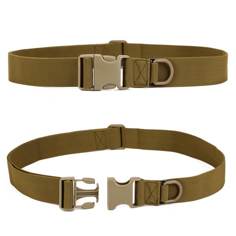 Men Nylon   Belt   Military Army SWAT Bag Deputy Waist Strap Tactical Buckle Rappelling Combat Equipment   Belts   Adjustable
