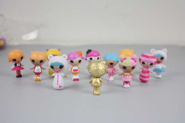 8pcs no repeat 4cm size LALALOOPSY Happy Angel action figure Doll.8-12g PVC lala loopsy girls gift Toy