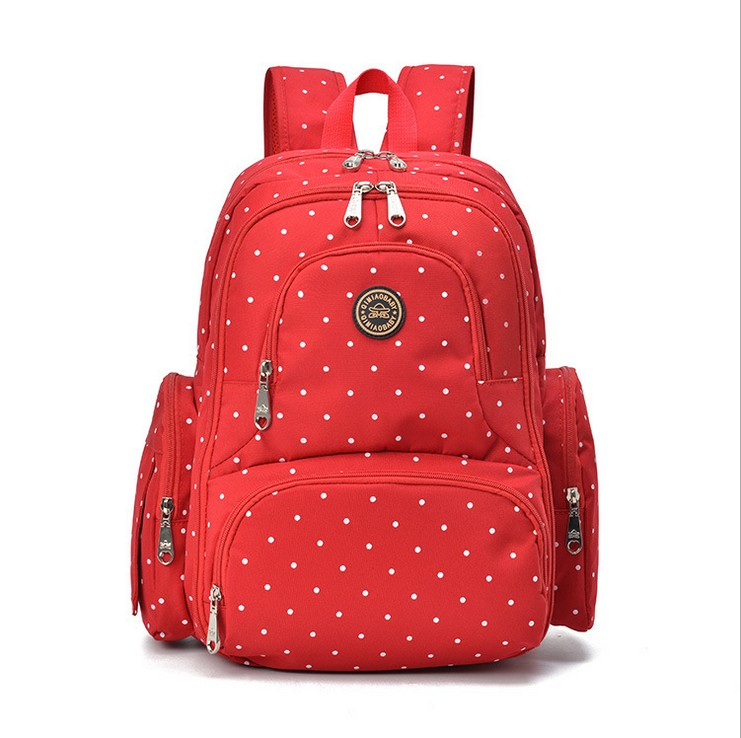(red)super large capacity multifunctional backpack nappy bag baby diaper bags changing mat mommy bag babies care product
