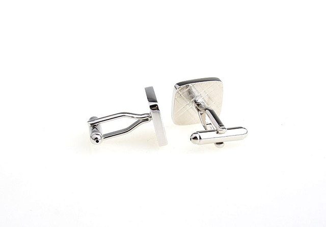 Igame Factory Price Novelty Cufflinks Copper Material Silver Masonic Design Cuff Links