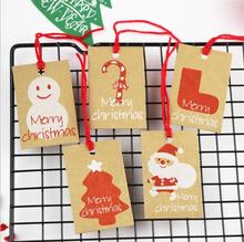 50PCS Paper Hang Tags Christmas Hanging DIY Tree Decoration Xmas Ornaments Party Favors for New Year