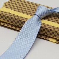 Men Business Dress Silk Tie 8cm Blue Floral Silk Tear Tie