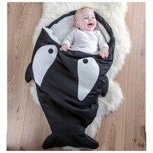 2016 акула спальных мешков для 100% хлопок мультфильма детские 0 — 2 лет мальчики и девочки спальный мешок новорожденных сна мешок, Hi207