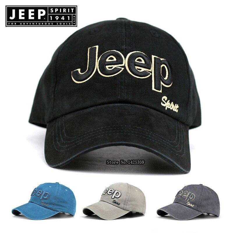 JEEP SPIRIT Brand   Baseball     Cap   Men Casual Unisex   Caps   Embroidery Letter Adjustable Cotton Dad Hat Outdoor gorras para hombre