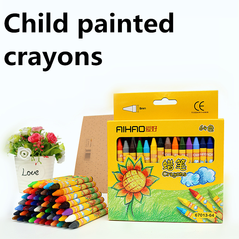8/12/24/48/64 Color/set Painted Crayons Child Drawing Tools Student Colored Marker Pen