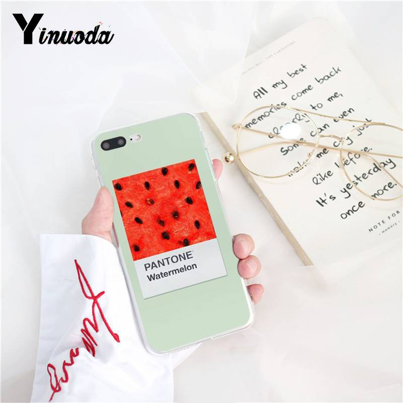 Yinuoda Pantone Candy Color Fruit Cookies sunshine sky Custom Phone Case for iPhone X XS MAX  6 6s 7 7plus 8 8Plus 5 5S SE XR 10