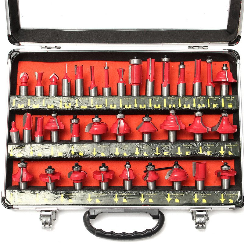 35pcs/set Router Bit 1/2'' Shank Tungsten Carbide Router Bits Woodworking Tool High Quality 46pcs 1 4 inch high quality socket set car repair tool ratchet set torque wrench combination bit a set of keys chrome vanadium