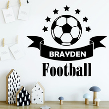 Creative Football Self Adhesive Vinyl Waterproof Wall Decal Decor Living Room Bedroom Removable Wall Decoration Murals vodool creative wall blackboard sticker vinyl removable self adhesive children early education decor stationery office supplies