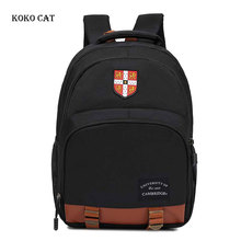 цены Casual Canvas Backpack for Teenager Boys Daily Durable Schoolbag Girl's Orthopedic Satchel Knapsack Mochila Escolares Infantil