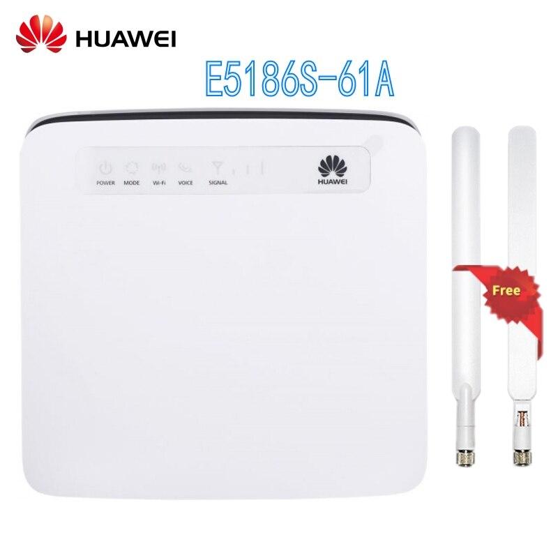 Débloqué Huawei E5186 E5186s-61a avec Antenne 4g LTE CAT6 300 Mbps CPE Sans Fil Routeur Hotspot Gateway PK B593, b310, E5172 b315