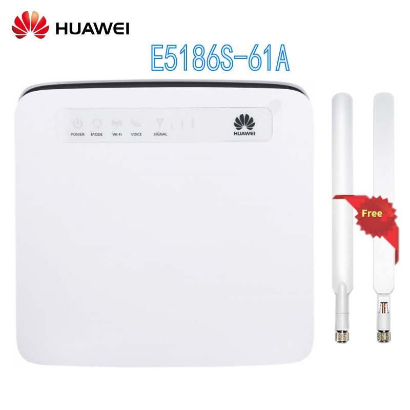 Unlocked Huawei E5186 E5186s 61a with Antenna 4G LTE CAT6 300Mbps CPE Wireless font b Router